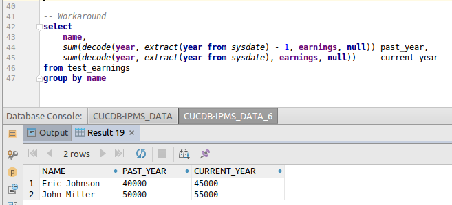 decode example in sql