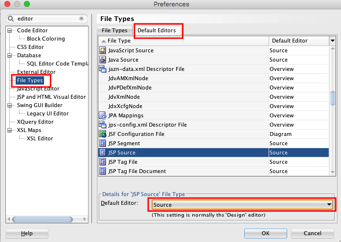 How to open file in Source View instead of Design View by default in